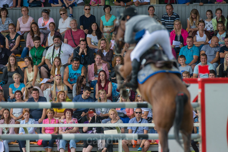 Gunnar KLETTENBERG (EST) with the horse TRAFFIC, World Cup competition, Grand Prix Riga, CSI2*-W, CSIYH1* - Riga 2016, Latvia
