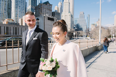 City Hall Brooklyn Bridge Elopement