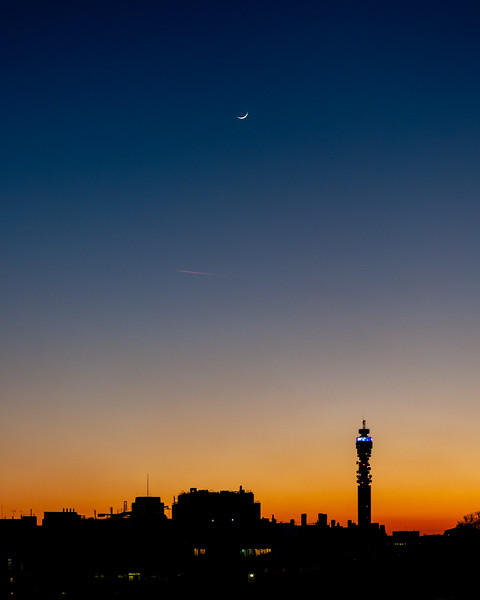 Moon over London