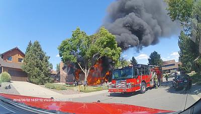 East Long Place Garage Fire