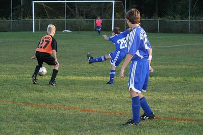 U-12 soccer V. Montville, 9/20/08 (L 0-7)