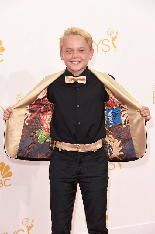 . Actor Mason Vale Cotton attends the 66th Annual Primetime Emmy Awards held at Nokia Theatre L.A. Live on August 25, 2014 in Los Angeles, California.  (Photo by Jason Merritt/Getty Images)