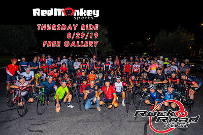 FREE- 08/29/19 RED MONKEY & ROCK N ROAD CYCLERY RIDE
