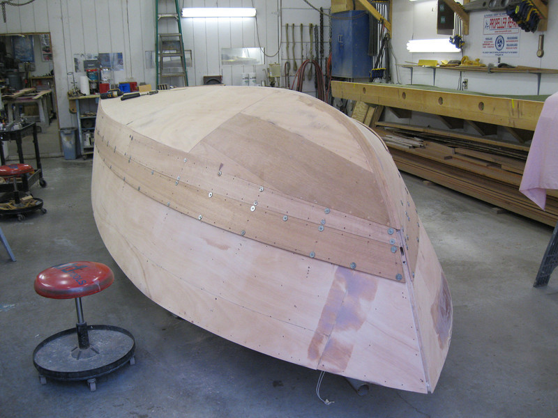 Port front view of second plank fit.