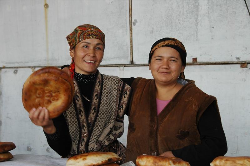 Women Bread Vendors - Osh, Kyrgyzstan