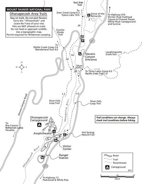 Mount Rainier National Park (Trails - Ohanapecosh Area)