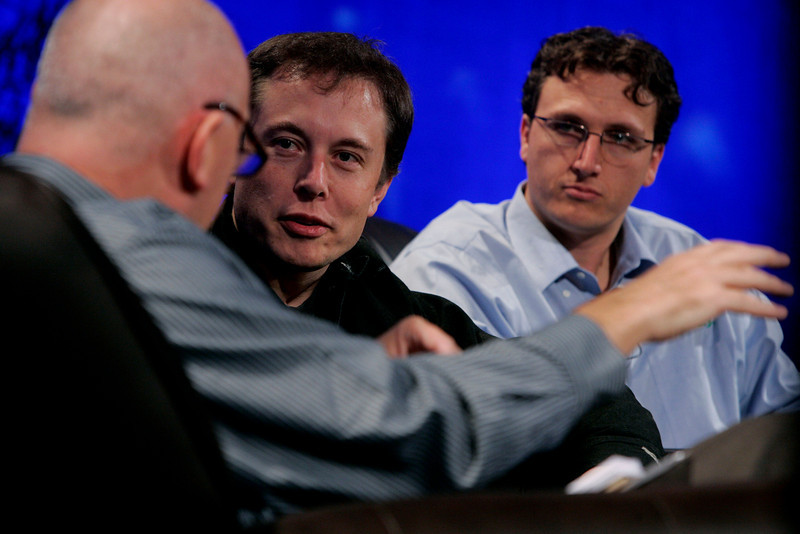 """""""Earth on FiRe: Rapid Response to Climate Crisis"""": Moderator Steve Evans [L], Presenter, Business Daily, BBC World Service; Elon Musk, CEO and CTO of SpaceX, and Chair of Tesla Motors and SolarCity; and Lyndon Rive, CEO, SolarCity"""