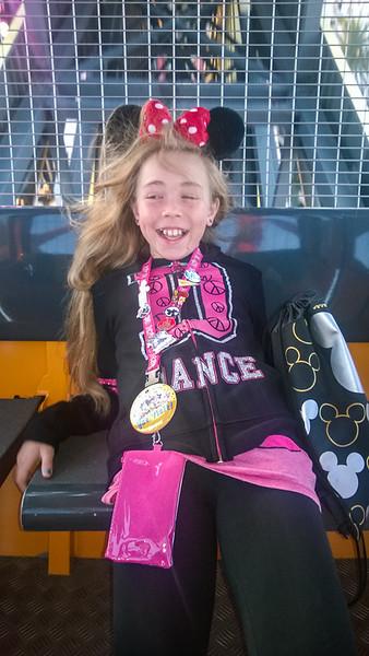 2014.10.21 - Disneyland. Riding ferris wheel.