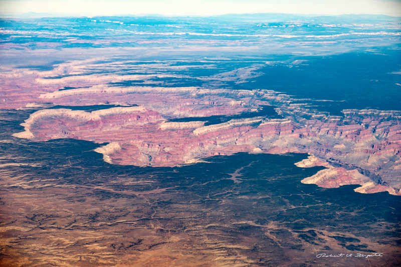 Grand Canyon western end viewed from the middle area.