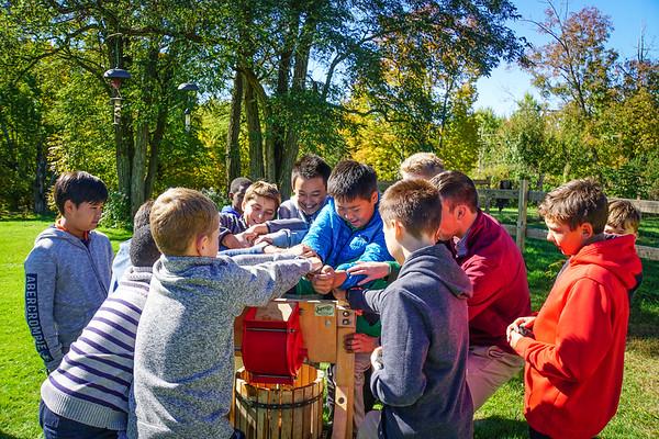 Sixth Graders at the Farm