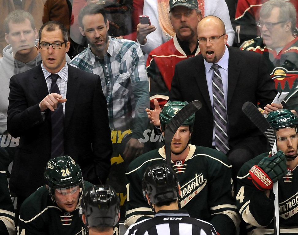 ". <p><b> As the NHL season heads into the final four weeks, it�s looking increasingly likely that the Minnesota Wild will have to � </b> <p> A. Finish strong in order to make the playoffs <p> B. Give up on making the playoffs this season <p> C. Get a new coach for next season <p><b><a href=\'http://www.twincities.com/wild/ci_25363562/wild-out-their-depth-loss-bruins?source=rss\' target=""_blank\"">HUH?</a></b> <p>     (Pioneer Press: Sherri LaRose-Chiglo)"