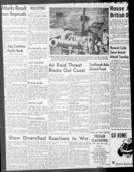 Daily Trojan, Vol. 33, No. 47, December 09, 1941