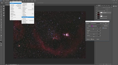 Color correction of magenta stars