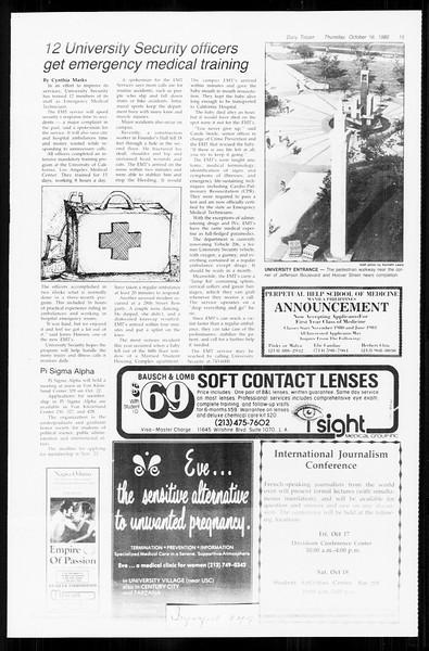 Daily Trojan, Vol. 89, No. 23, October 16, 1980