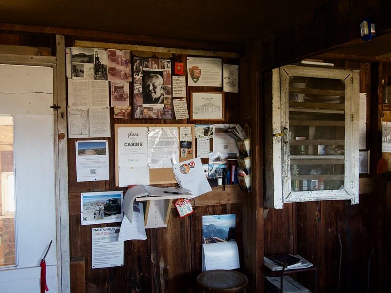Riley cabin bulleting board