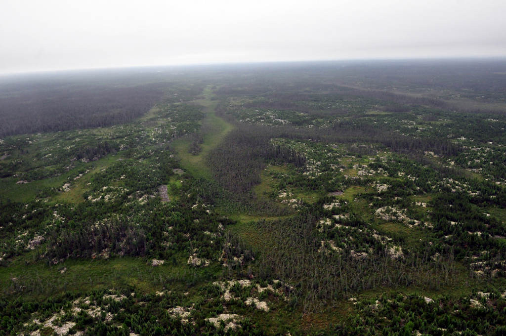 . Northern Ontario is splashed with lakes and rivers, but the reality is most of the surface is forest. Woodland Caribou Provincial Park is located atop an upthrust of granite that was exposed during the last ice age.
