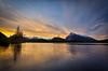 """Fiery Rundle""<br /> <br /> Vermilion Lakes, Banff National Park, Alberta, Canada."
