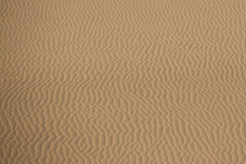 Close-up of wind marks at the white sand dunes - Mui Ne, Vietnam