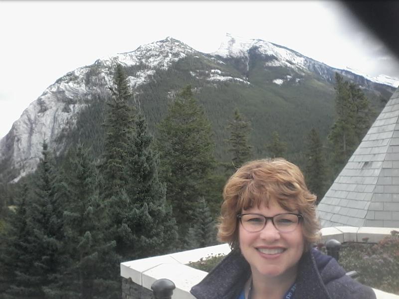 Banff, Alberta Canada - outside of the Fairmount after enjoying high tea - September 19, 2017