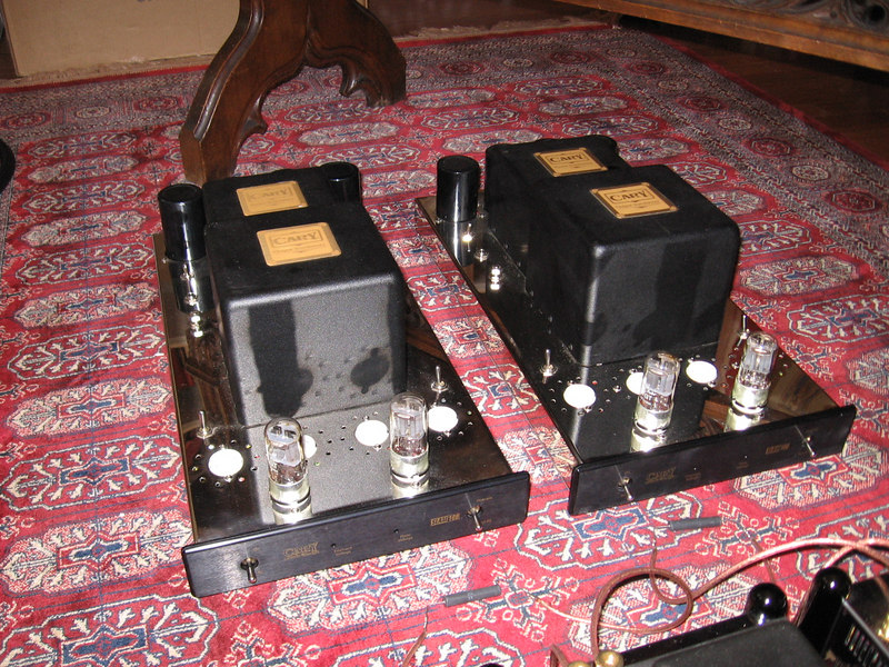 Cary Audio Design monoblocks. We didn't get to hear these.