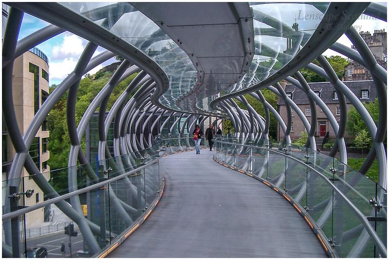 the pedestrian bridge to the St James Centre, Edinburgh - now demolished