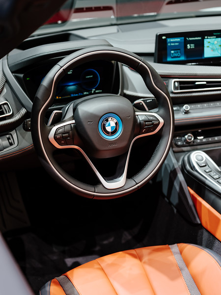 Interior of the BMW i8 Roadster - Samuel Zeller for the New York Times