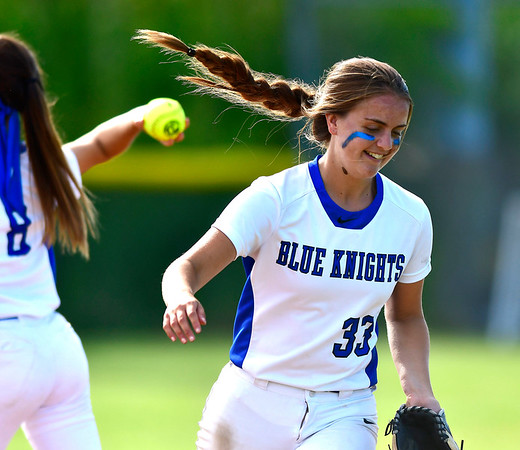 6/8/2019 Mike Orazzi | Staff Southington's Gabriella VerderameMalachowski (33) during Saturday's Class LL Softball Final at DeLuca Field in Stratford.
