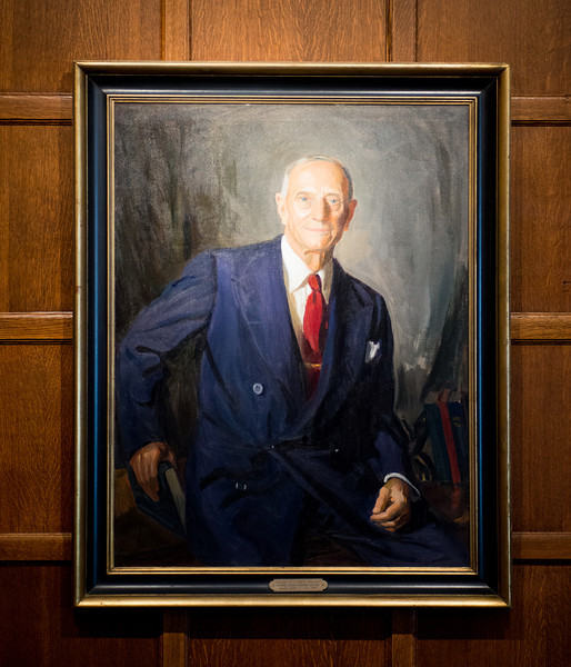 Ralph Tirey president portrait in Heritage Lounge