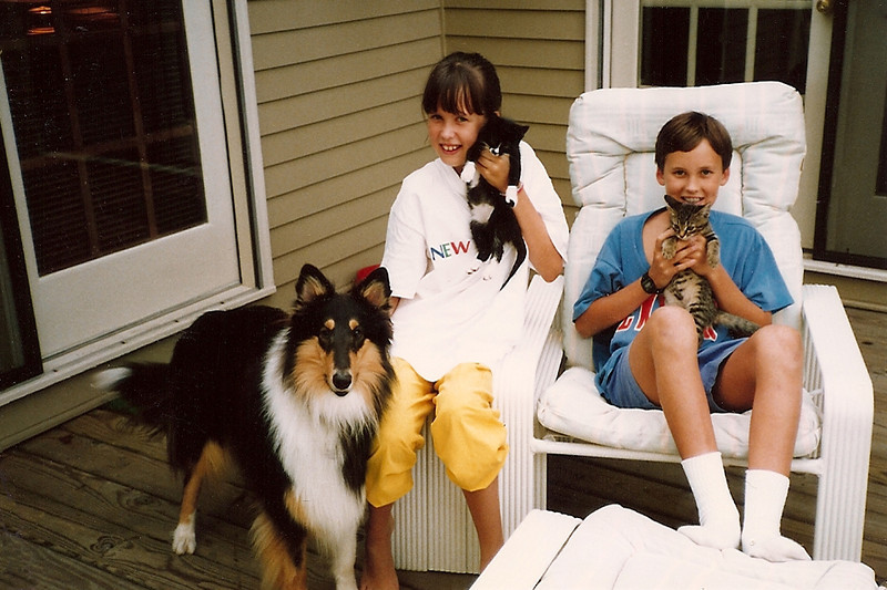 Duchess, Catherine, Penny, Edward and Thunder  9/89