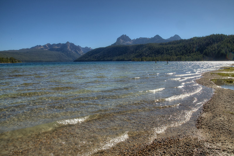 Redfish Lake under the Sawtooth Mountains - near Stanley, Idaho