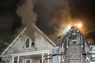 Stratford Ave. Fire (Bridgeport, CT) 7/4/17