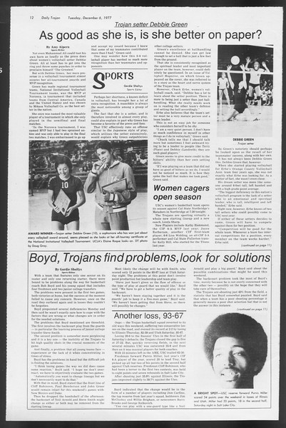 Daily Trojan, Vol. 72, No. 51, December 06, 1977