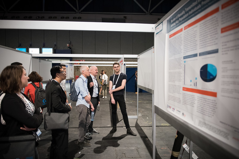 22nd International AIDS Conference (AIDS 2018) Amsterdam, Netherlands   Copyright: Marcus Rose/IAS  Photo shows: STI 2018. Key and Marginalised Populations. Poster Session.