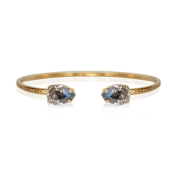 Petite Drop Bracelet / Black Diamond / Gold