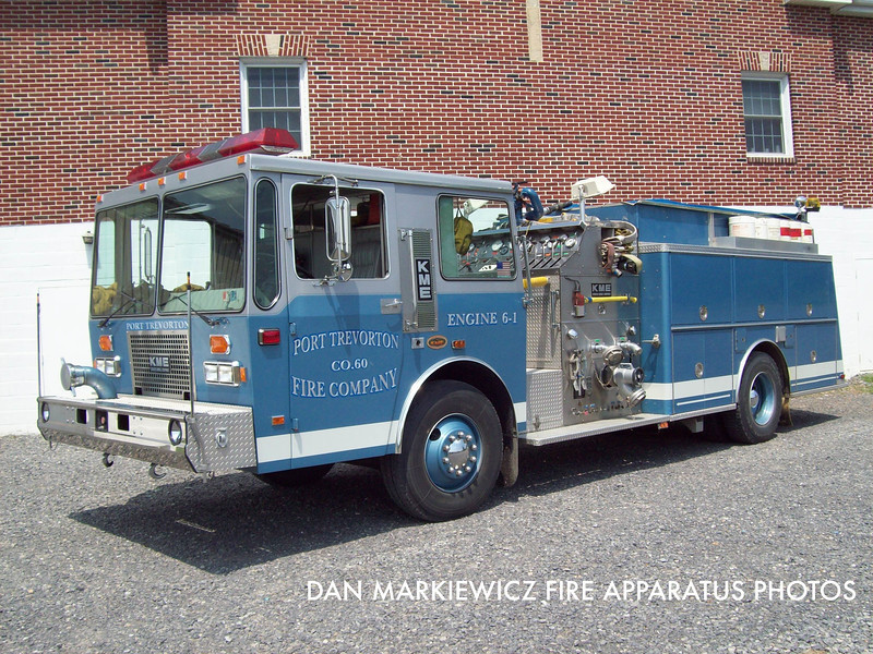PORT TREVORTON FIRE CO. ENGINE 6-1 1991 KME PUMPER