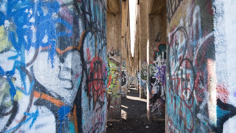 Inside Philidelphia Graffiti Pier II