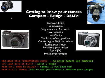Presentation - Getting to know your camera