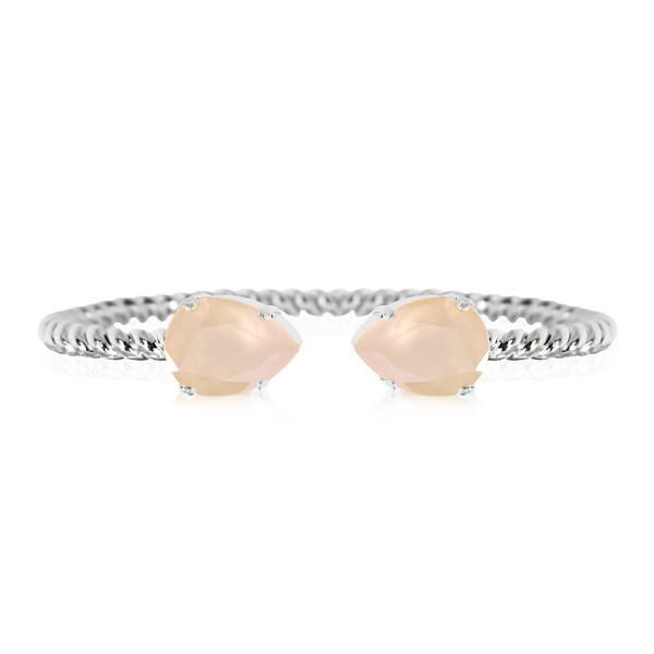 Mini Drop Bracelet / Ivory Cream Rhodium