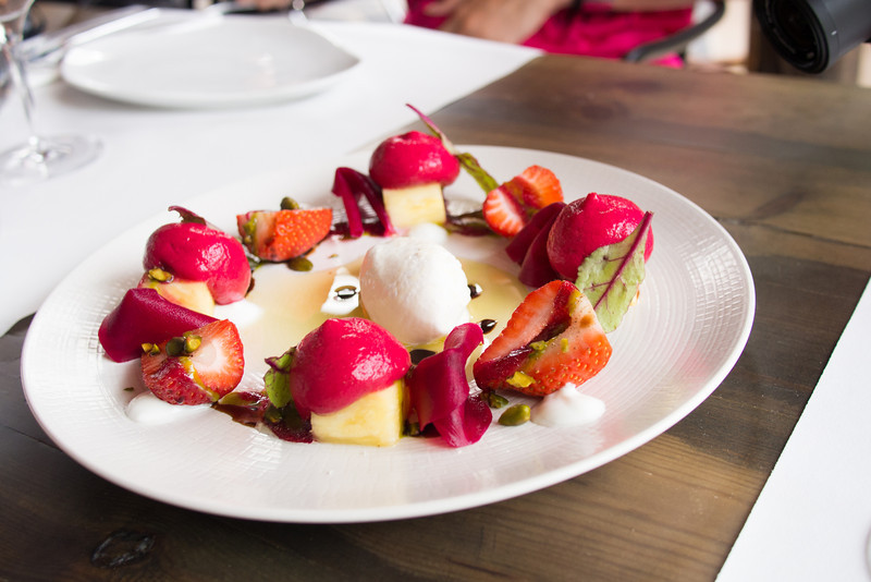 Salad of beet root fruits and ajoblanco 2 sorbet.jpg