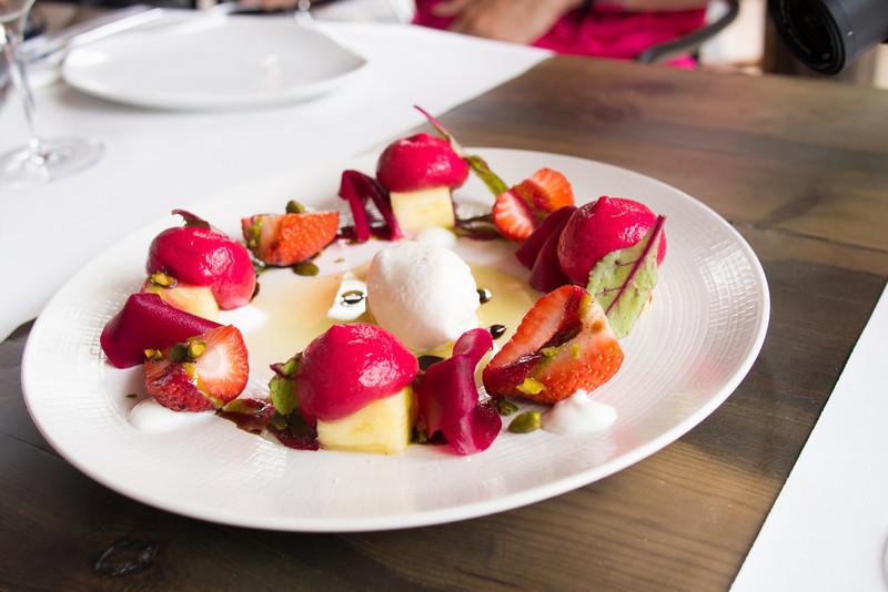 Salad of beet root fruits and ajoblanco 2 sorbet.jpg