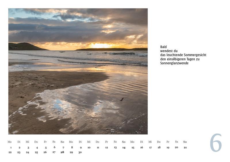 """Foto-Lyrik-Kalender 2020 """"An der Küste von Grünland"""" Juni"""