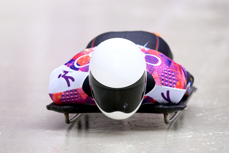. Matthew Antoine of the United States makes a run during the Men\'s Skeleton on Day 8 of the Sochi 2014 Winter Olympics at Sliding Center Sanki on February 15, 2014 in Sochi, Russia.  (Photo by Cameron Spencer/Getty Images)