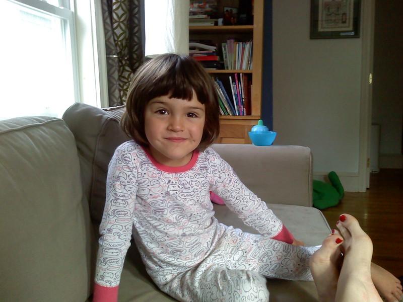 Guen, and Christina's toes.