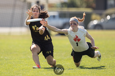 8-20-16 Vancouver Traffic v Seattle Riot Women's Division Pool Play at USAU Pro Flight Finale