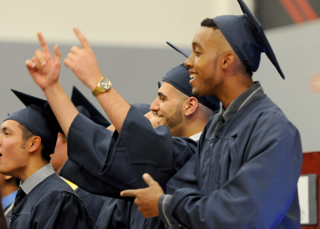 ". Students sing ""The Best Days Of Our Lives\"" at the Northridge Academy High School graduation ceremony on Thursday, June 5, 2014. (Photo by Dean Musgrove/Los Angeles Daily News)"