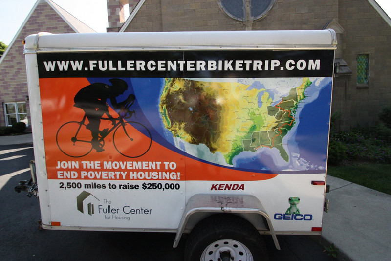 2010 Bike Adventure trailer.  photo by Aaron Alaman