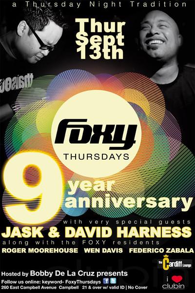 FOXY 9 Year Anniversary @ CARDIFF Lounge 9.13.12