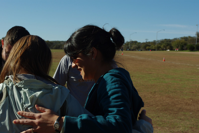 Maria gives Tammy a hug