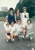 Back Row Liz Allison, Cheryl Rolley and daughter, front row Judy C, John, Jan Strattan and son brad
