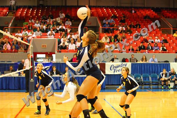 2011 11 17 Clarkston Varsity Volleyball vs Lake Orion MHSAA Semi Final - Go Wolves!!!
